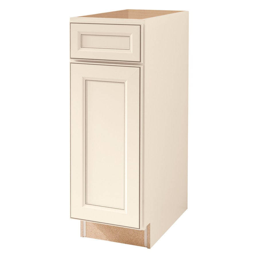 Diamond NOW Caspian 12.0-in W x 35.0-in H x 23.75-in D TrueColor Toasted Antique Square Door and Drawer Base Cabinet