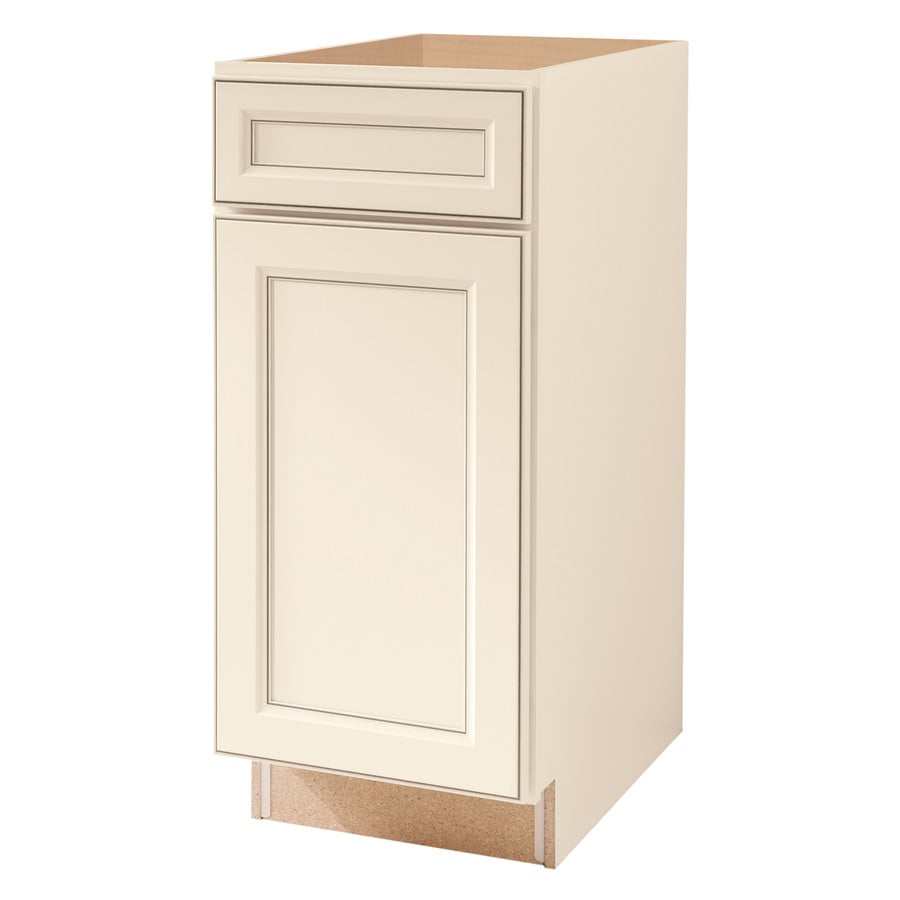 Diamond NOW Caspian 15-in W x 35-in H x 23.75-in D Truecolor Toasted Antique Door and Drawer Base Cabinet