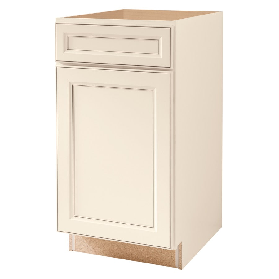 Diamond NOW Caspian 18-in W x 35-in H x 23.75-in D Truecolor Toasted Antique Door and Drawer Base Cabinet