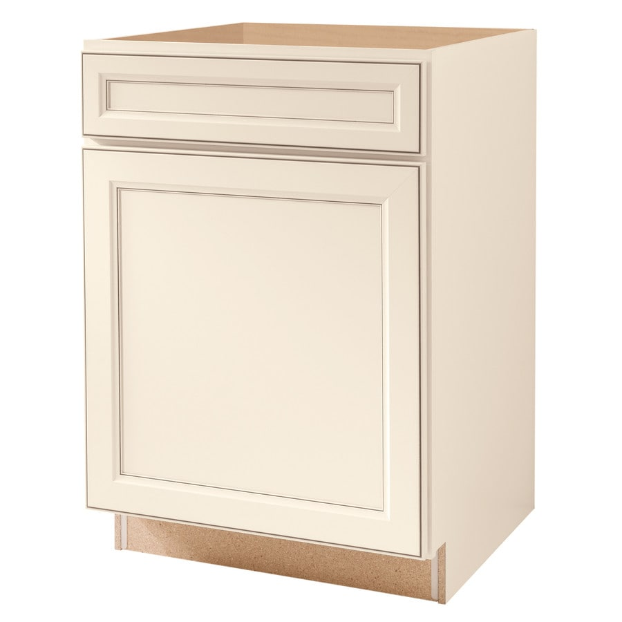 Kitchen Classics Caspian 24-in W x 35-in H x 23.75-in D Toasted Antique Door and Drawer Base Cabinet