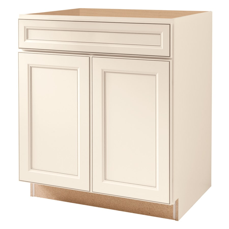 Diamond NOW Caspian 30.0-in W x 35.0-in H x 23.75-in D TrueColor Toasted Antique Square Door and Drawer Base Cabinet