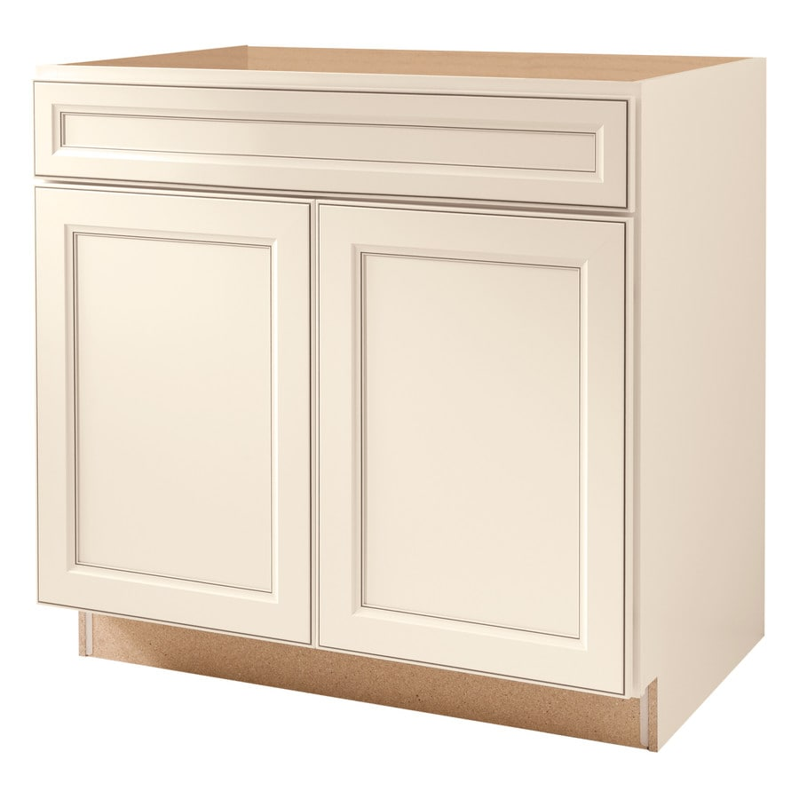 Diamond NOW Caspian 36.0-in W x 35.0-in H x 23.75-in D TrueColor Toasted Antique Square Sink Base Cabinet
