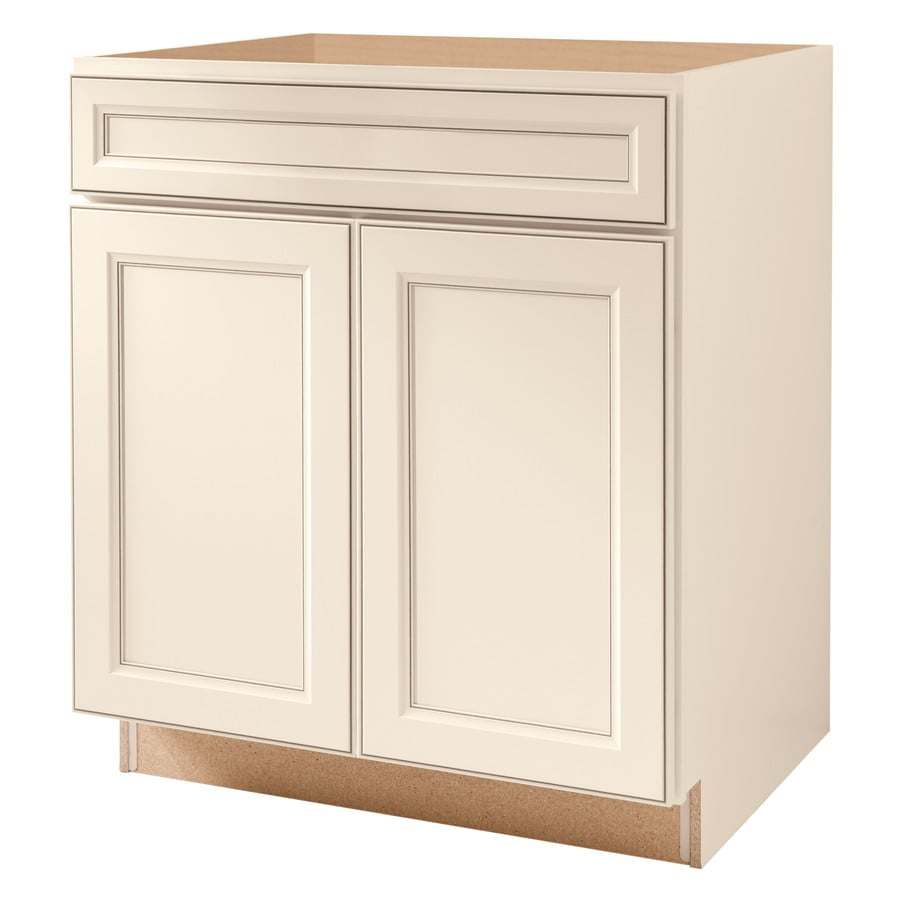 Kitchen Base Cabinets: Kitchen Classics 30-in Caspian White Sink Base Cabinet At