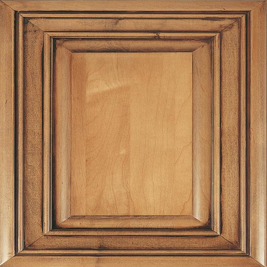 Diamond Caldwell 14.75-in x 14.75-in Coffee Maple Square Cabinet Sample