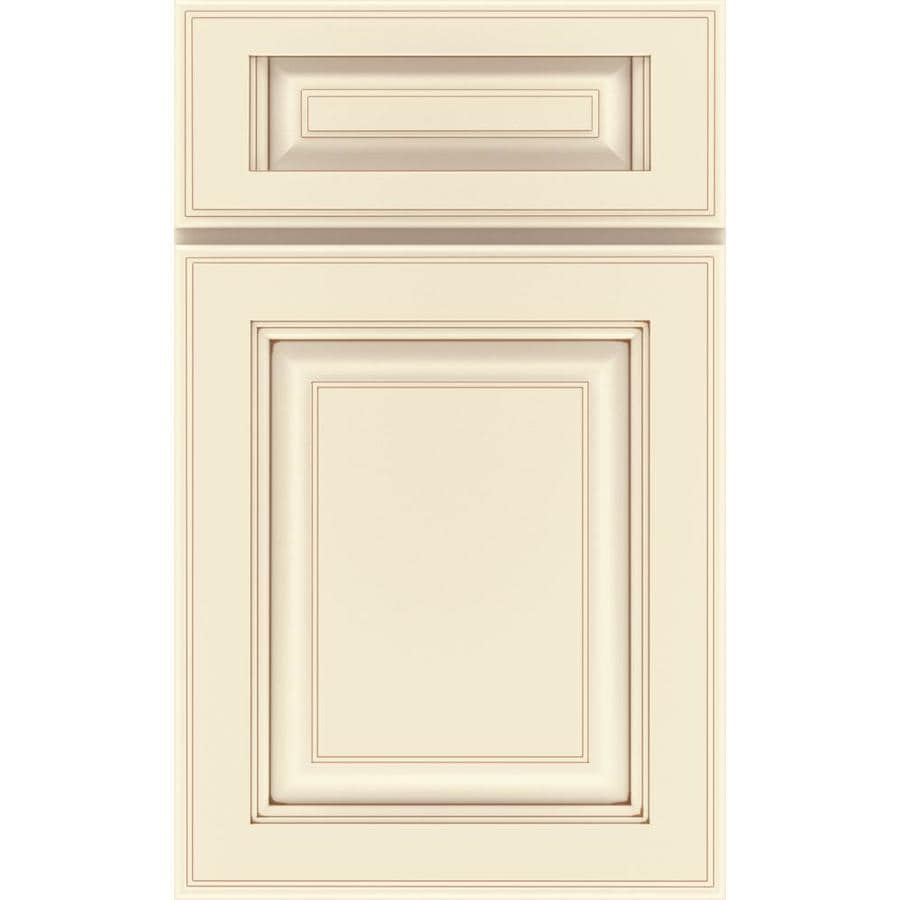 Diamond Henderson 14.75-in x 14.75-in Toasted Almond Painted Maple Square Cabinet Sample
