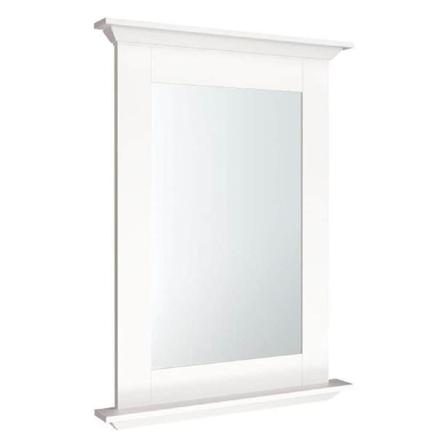 Diamond Freshfit Palencia White 25 In Rectangular Bathroom Mirror