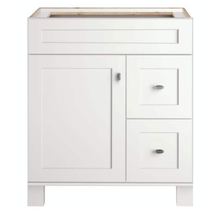 Diamond FreshFit Palencia Freestanding White 30 In X 21 In Transitional Bathroom  Vanity
