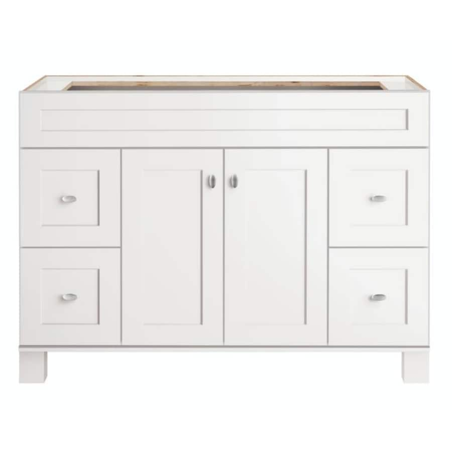 Diamond FreshFit Palencia White Bathroom Vanity (Common: 48-in x 21-in; Actual: 48-in x 21-in)