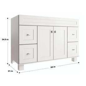 Shop diamond freshfit palencia 48 in white bathroom vanity cabinet at for Diamond freshfit palencia white bathroom vanity