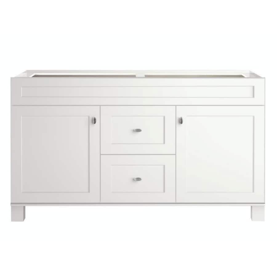 diamond freshfit palencia white bathroom vanity common 60in x 21in - 60 Bathroom Vanity