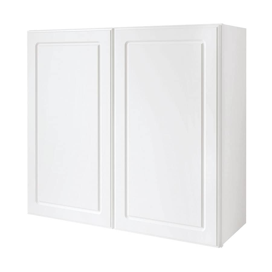 Shop Diamond Now Concord 33 In W X 30 In H X 12 In D White Door Wall Cabinet At