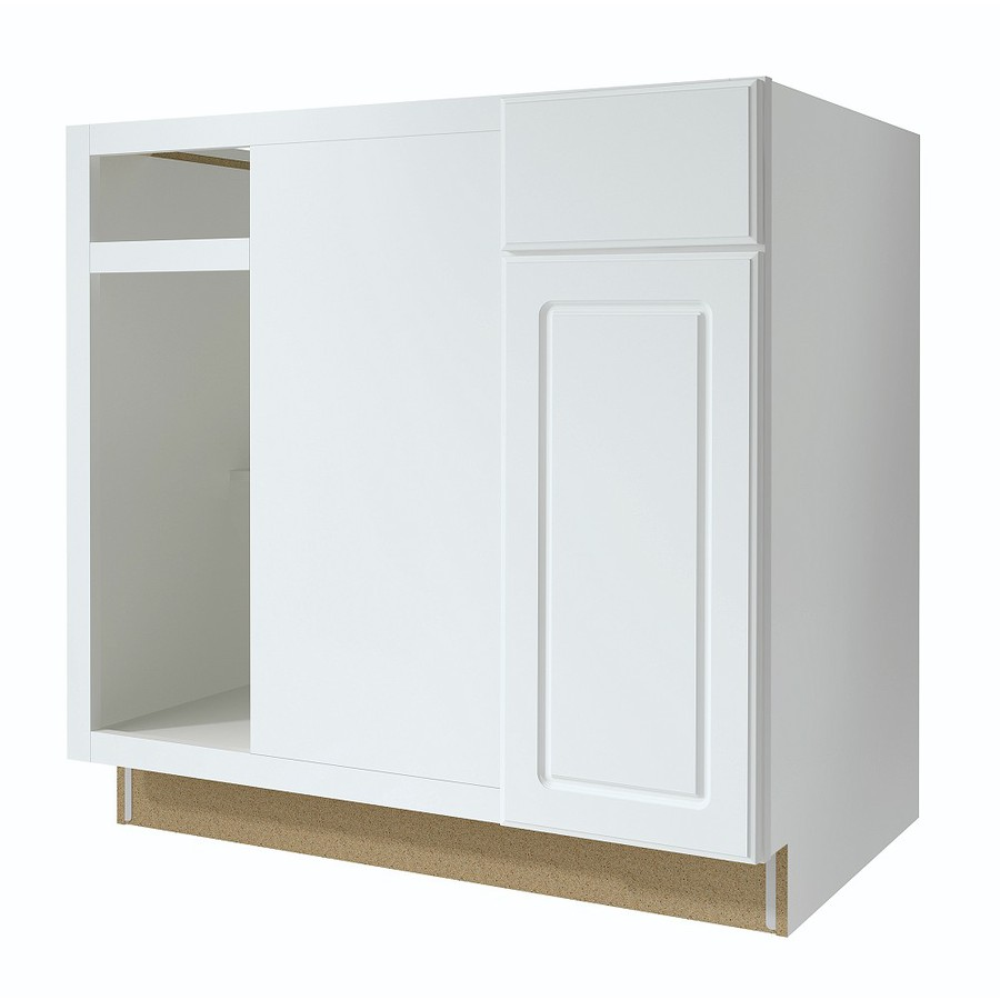 shop kitchen classics concord 36 in w x 35 in h x d white blind corner base cabinet at. Black Bedroom Furniture Sets. Home Design Ideas