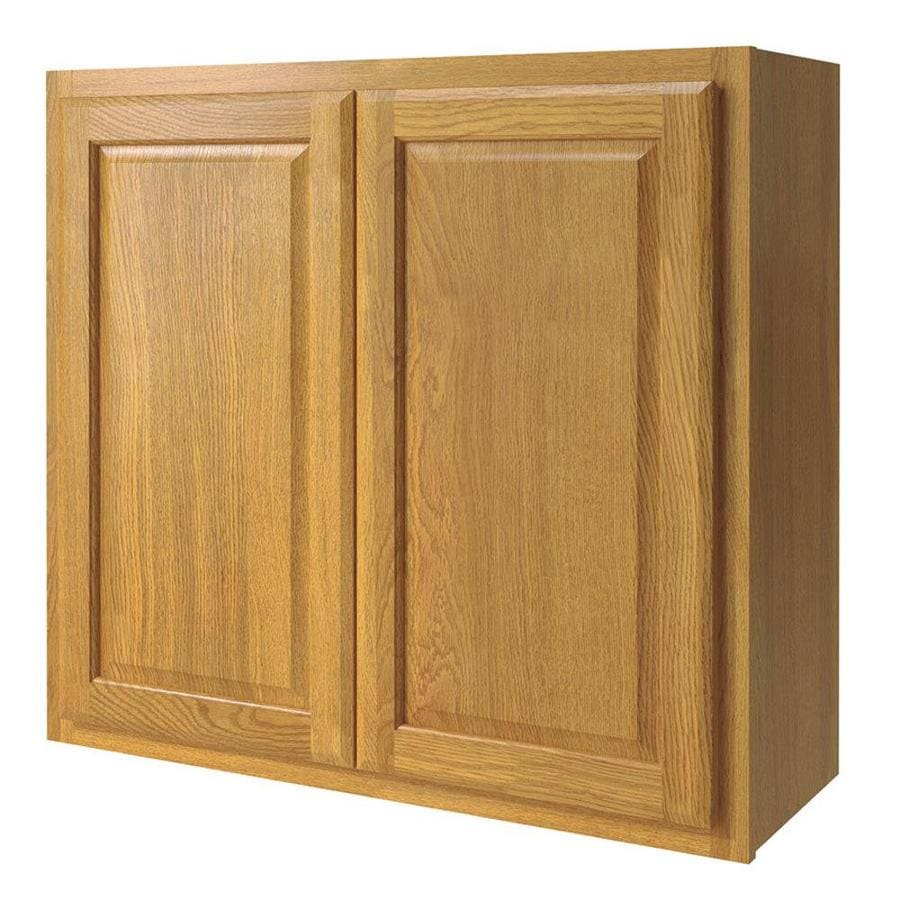 Diamond NOW Portland 33-in W x 30-in H x 12-in D Wheat Door Wall Cabinet