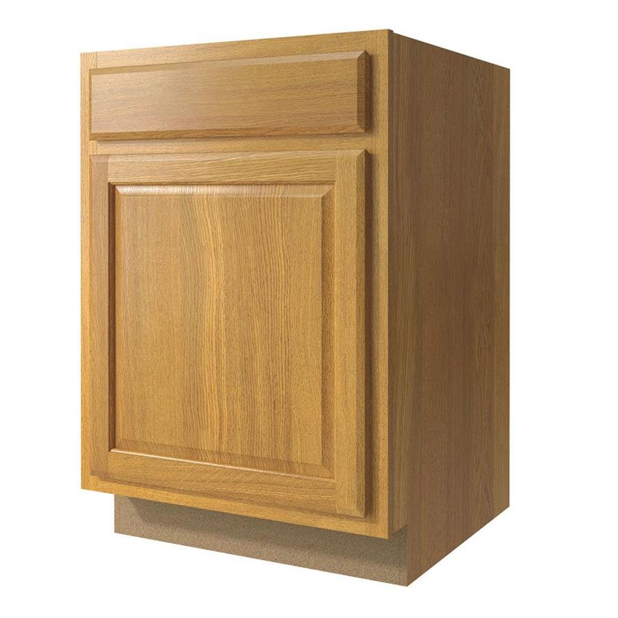 Diamond NOW Portland 21-in W x 35-in H x 23.75-in D Wheat Door and Drawer Base Cabinet