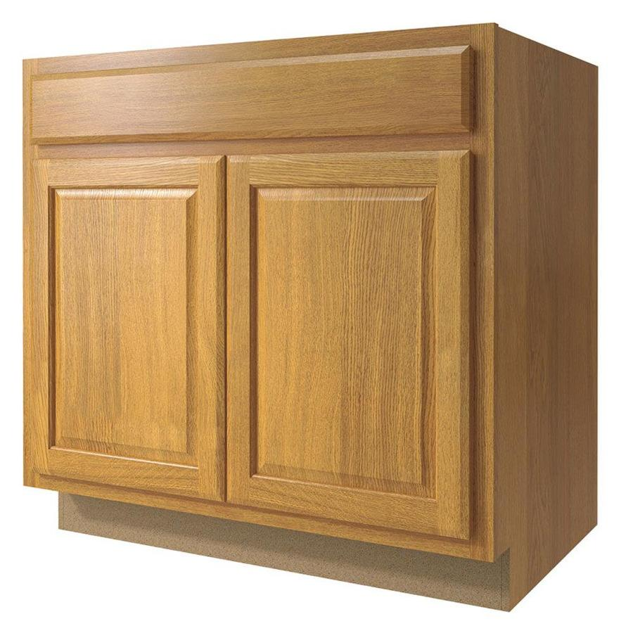 Kitchen Classics Portland 33-in W x 35-in H x 23.75-in D Wheat Sink Base Cabinet