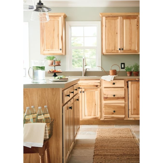 Diamond Now Denver 36 In W X 35 In H X 23 75 In D Natural Hickory Blind Corner Base Stock Cabinet In The Stock Kitchen Cabinets Department At Lowes Com