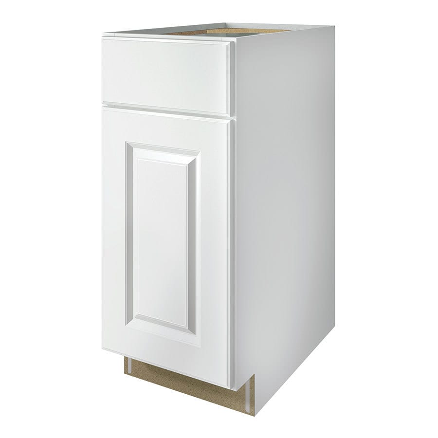 Kitchen Classics Waterford 15-in W x 35-in H x 23.75-in D Finished White Door and Drawer Base Cabinet