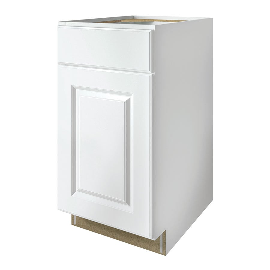 Kitchen Classics Waterford 18-in W x 35-in H x 23.75-in D Finished White Door and Drawer Base Cabinet