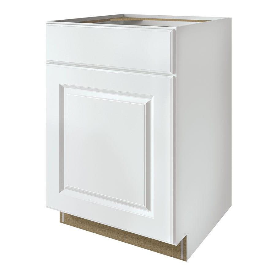 Kitchen Classics Waterford 24-in W x 35-in H x 23.75-in D Finished White Door and Drawer Base Cabinet