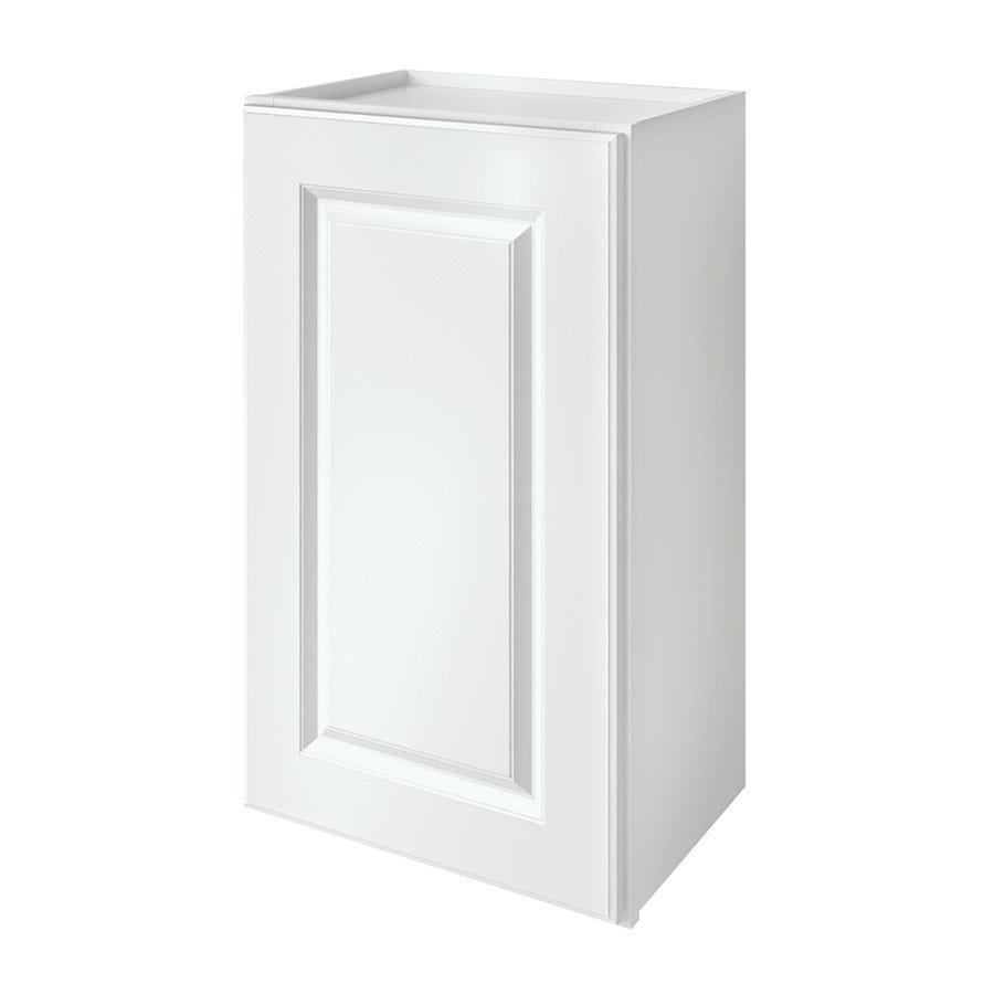 Kitchen Classics Waterford 18-in W x 30-in H x 12-in D Finished White Single Door Kitchen Wall Cabinet