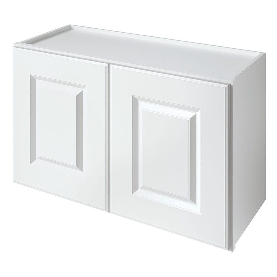 Kitchen Classics Waterford 30-in W x 18-in H x 12-in D Finished White Double Door Kitchen Wall Cabinet