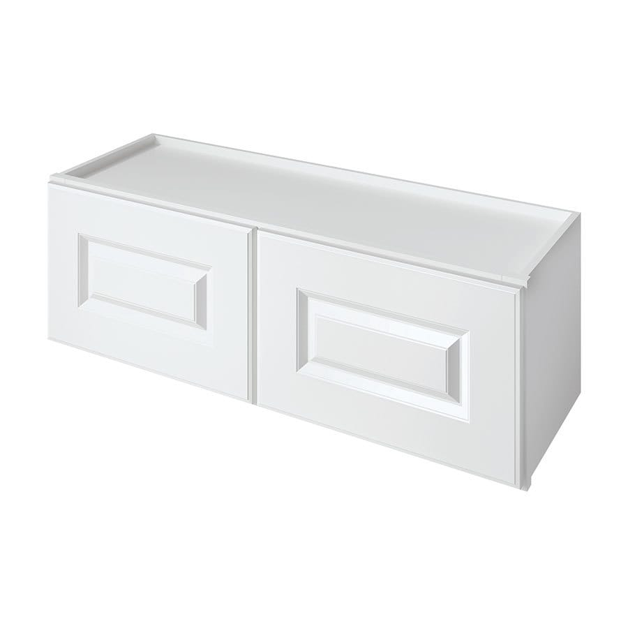 Kitchen Classics Waterford 36-in W x 12-in H x 12-in D Finished White Double Door Kitchen Wall Cabinet