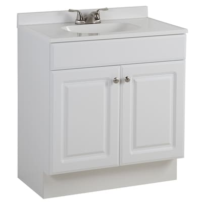 Project Source 30 5 In White Single Sink Bathroom Vanity