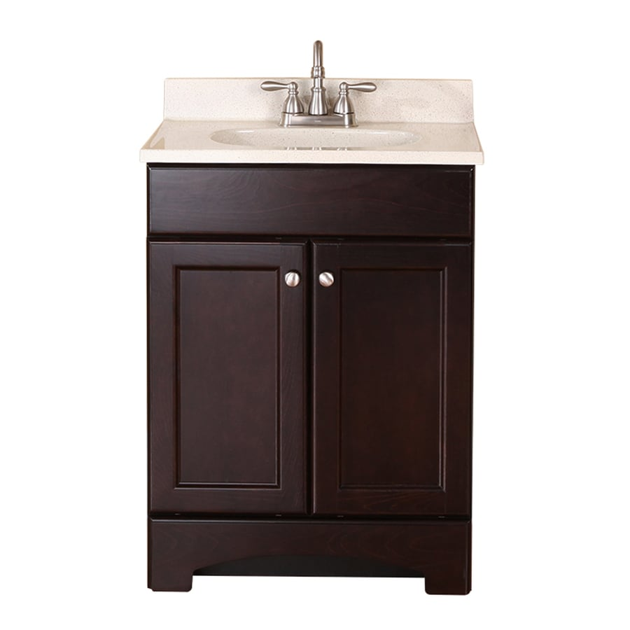 Shop Style Selections Clementon Cocoa Integral Single Sink Bathroom Vanity With Cultured Marble
