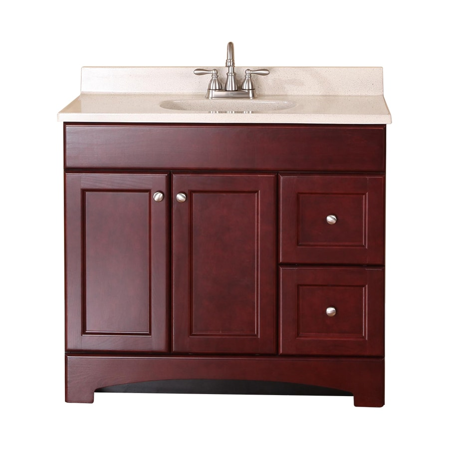 Style Selections Clementon Cherry Integral Single Sink ...