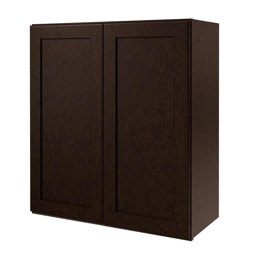 Diamond NOW Brookton 27-in W x 30-in H x 12-in D Espresso Door Wall Cabinet