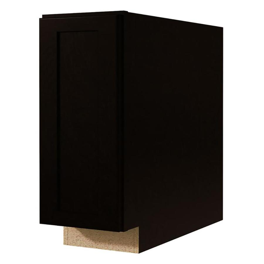 Kitchen Classics Brookton 9-in W x 35-in H x 23.75-in D Espresso Door and Drawer Base Cabinet