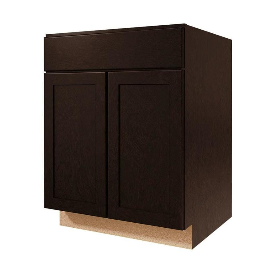 Diamond NOW Brookton 27-in W x 35-in H x 23.75-in D Espresso Door and Drawer Base Cabinet
