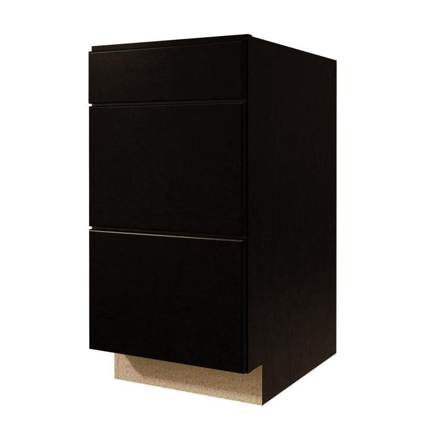 Shop diamond now brookton 24 in w x 35 in h x d espresso drawer base cabinet at Kitchen cabinets 75 off