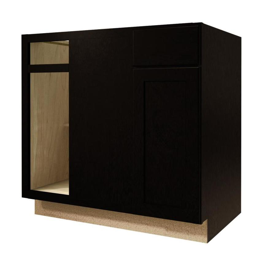 shop kitchen classics brookton 36 in w x 35 in h x d espresso blind corner base cabinet. Black Bedroom Furniture Sets. Home Design Ideas