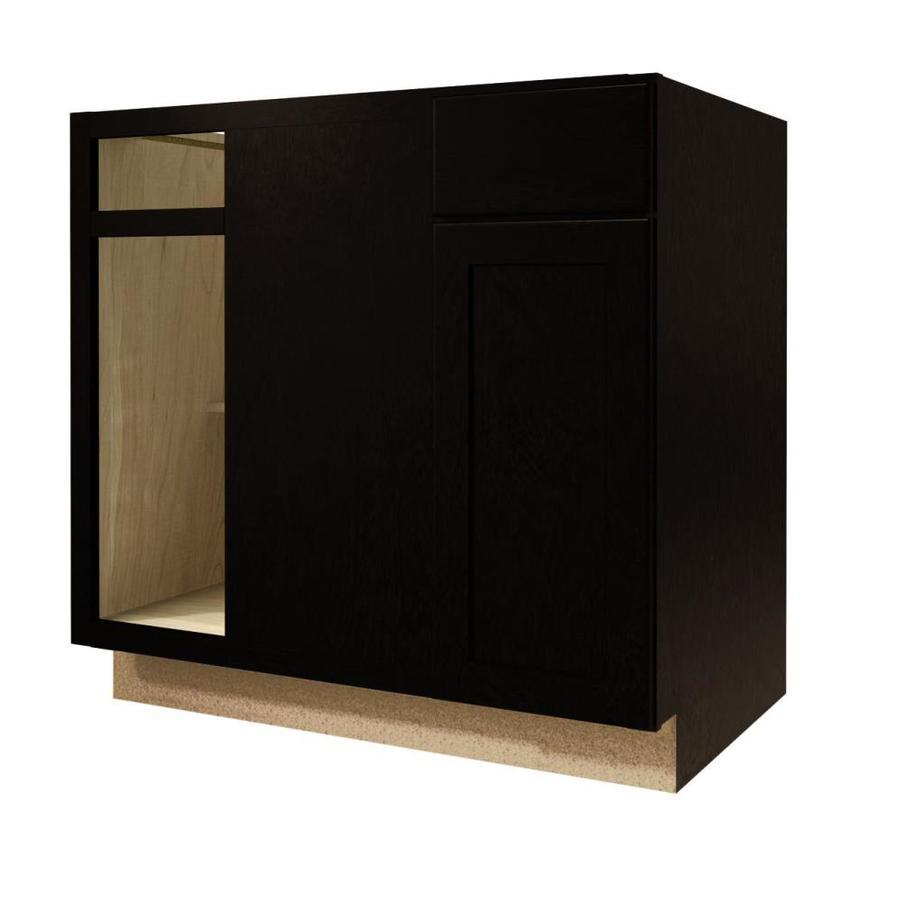 Diamond NOW Brookton 36-in W x 35-in H x 23.75-in D Espresso Blind Corner Base Cabinet