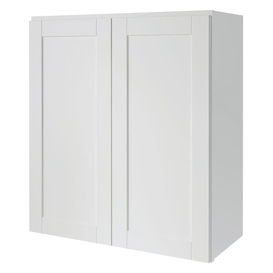 lowes kitchen wall cabinets shop kitchen classics 27 in w x 30 in h x 12 in d finished 22911