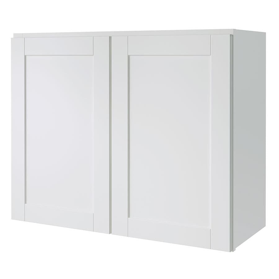 Shop diamond now arcadia 30 in w x 24 in h x 12 in d white for Kitchen cabinets 30 x 24