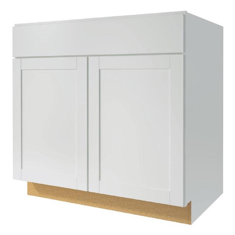 Kitchen Classics Arcadia 33-in W x 35-in H x 23.75-in D White Door and Drawer Base Cabinet