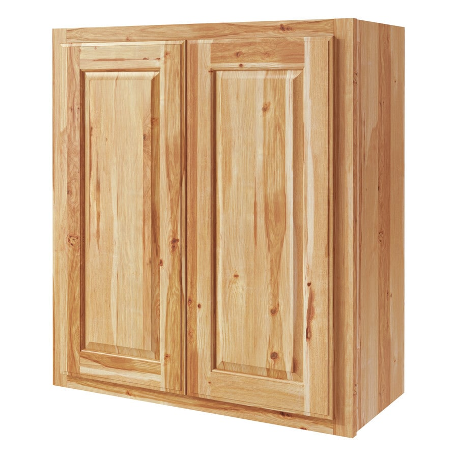 Diamond NOW Denver 27-in W x 30-in H x 12-in D Hickory Door Wall Cabinet