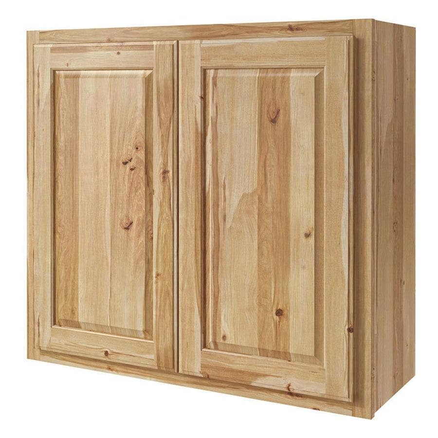 Diamond NOW Denver 33-in W x 30-in H x 12-in D Hickory Door Wall Cabinet