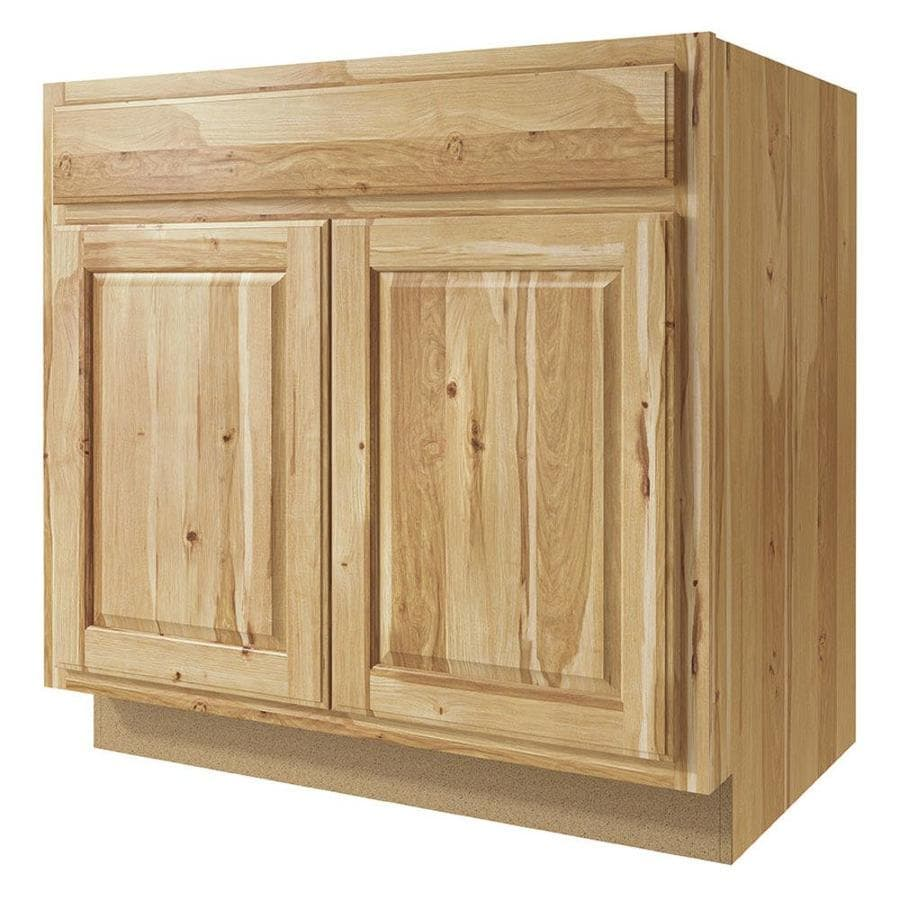 Kitchen Classics Denver 33-in W x 35-in H x 23.75-in D Hickory Sink Base Cabinet
