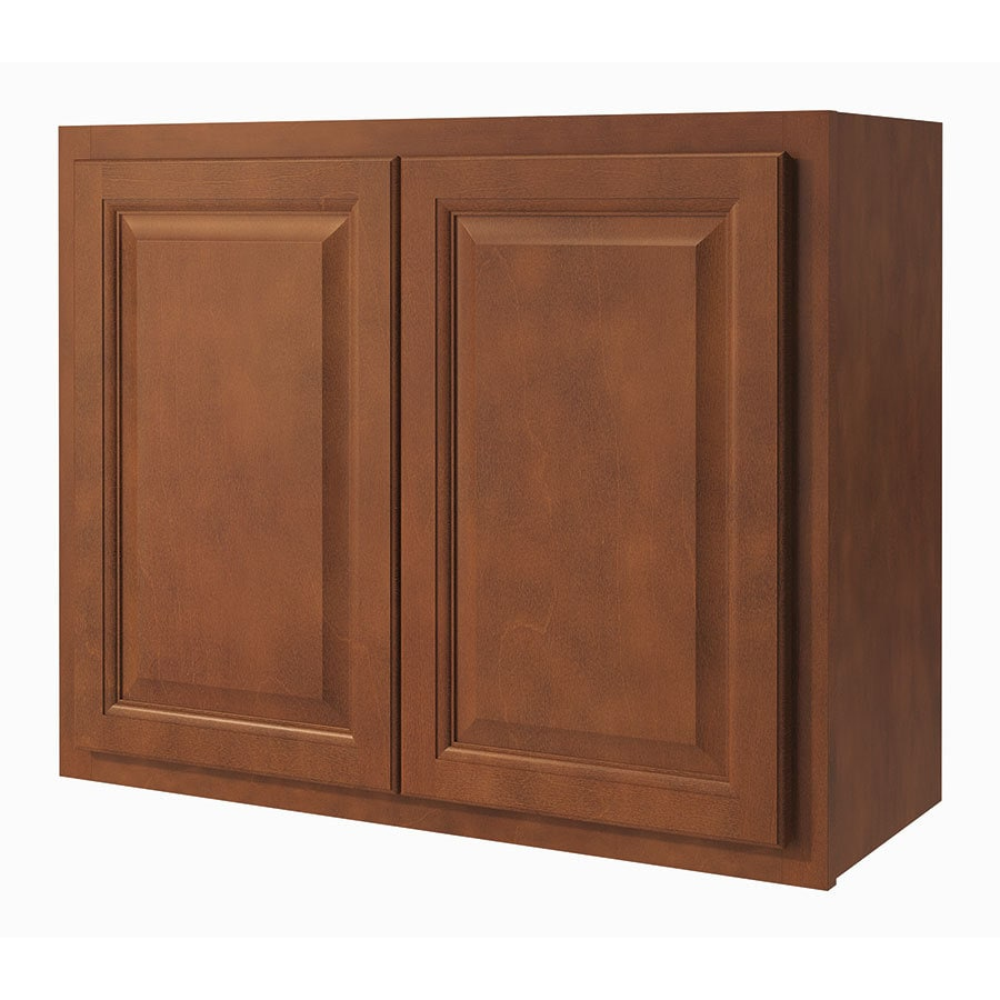 shop kitchen classics cheyenne 30 in w x 24 in h x 12 in d saddle door wall cabinet at. Black Bedroom Furniture Sets. Home Design Ideas