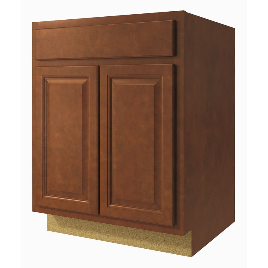Diamond NOW Cheyenne 27-in W x 35-in H x 23.75-in D Saddle Door and Drawer Base Cabinet