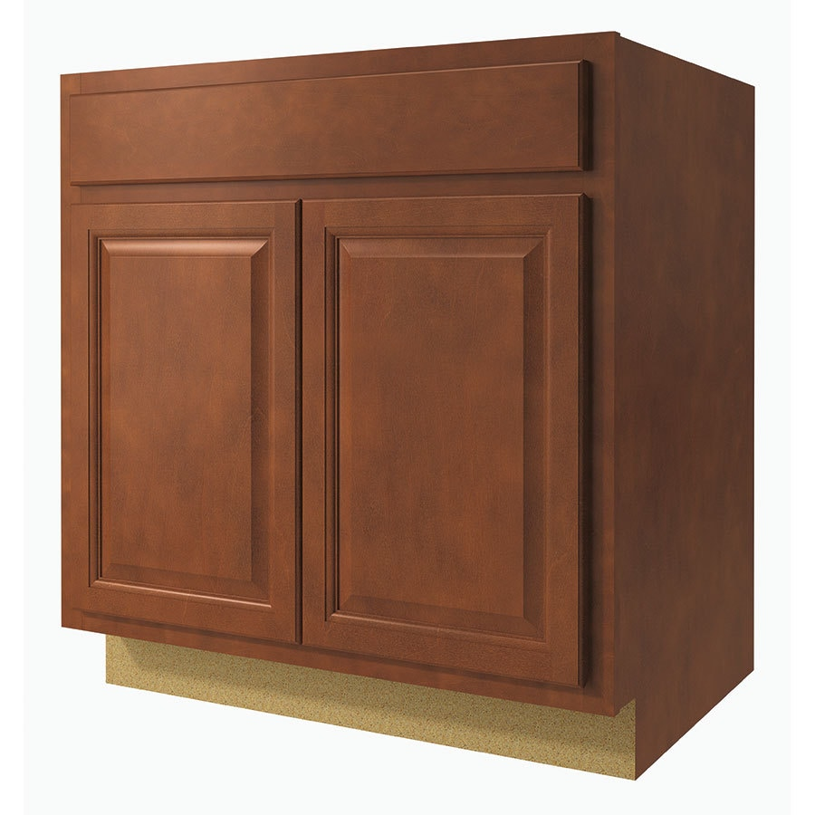 Diamond NOW Cheyenne 33-in W x 35-in H x 23.75-in D Saddle Door and Drawer Base Cabinet