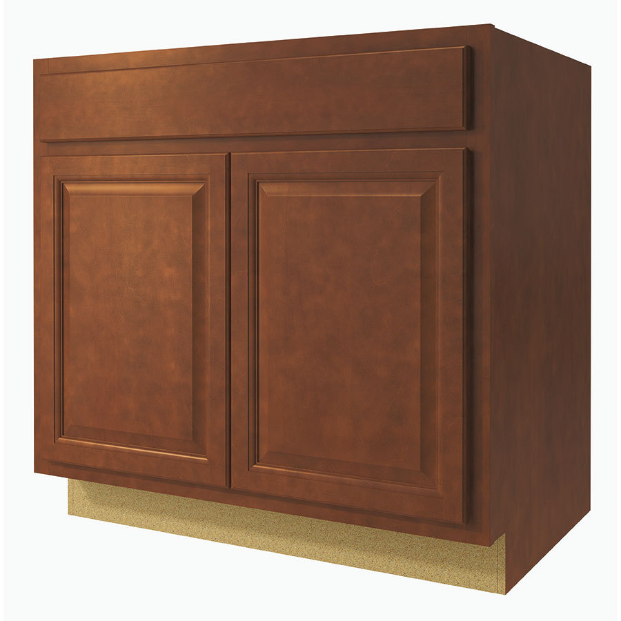 Diamond NOW Cheyenne 33-in W x 35-in H x 23.75-in D Saddle Sink Base Cabinet