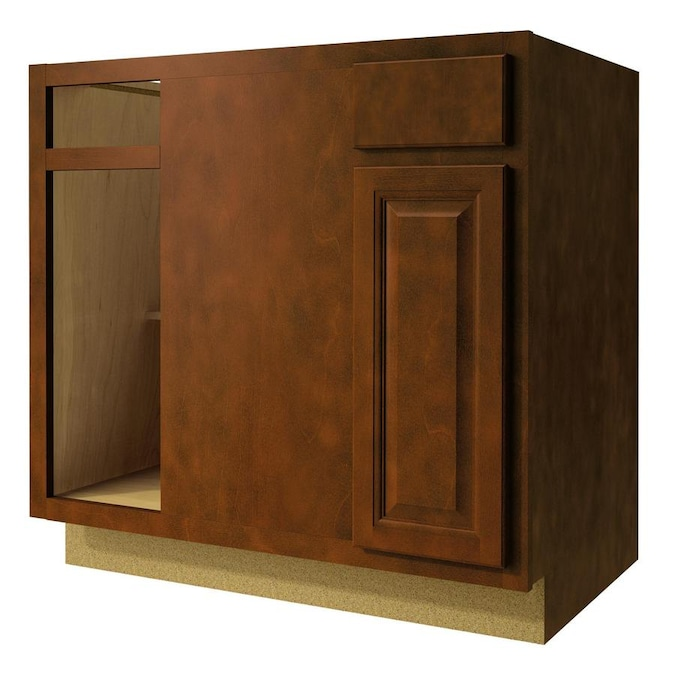 Kitchen Classics Cheyenne 36 In W X 35 In H X 23 75 In D Saddle Blind Corner Base Cabinet In The Stock Kitchen Cabinets Department At Lowes Com