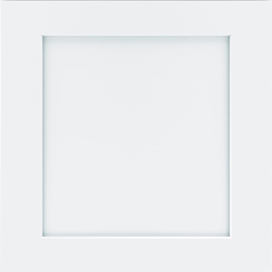 Diamond Wallace 14.75-in x 14.75-in White Painted Maple Square Cabinet Sample