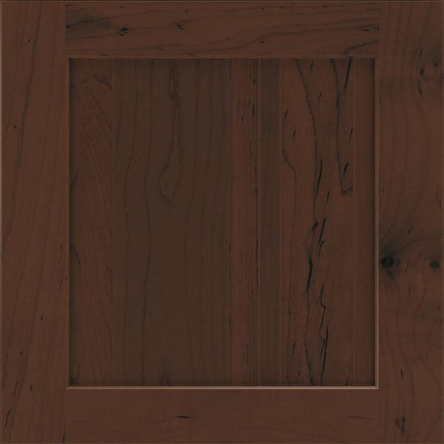Diamond Wallace 14.75-in x 14.75-in Chocolate Maple Square Cabinet Sample