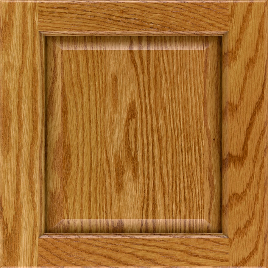 Diamond Farrell 14.75-in x 14.75-in Light Stained Oak Square Cabinet Sample