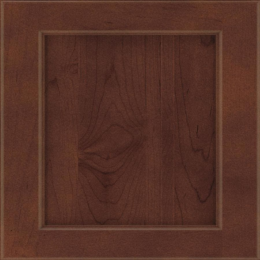 Diamond Karwin 14.75-in x 14.75-in Henna Maple Square Cabinet Sample